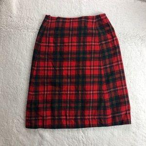 VTG Pendleton 100z Virgin Wool Plaid Skirt sz S